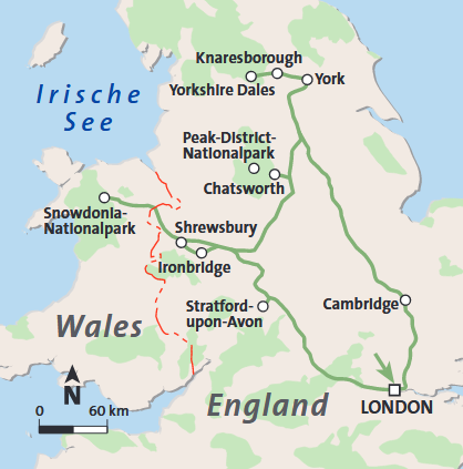 England, Wales & Yorkshire